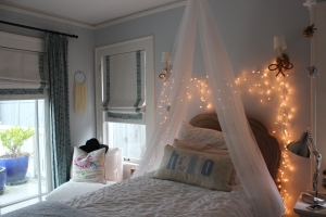 Fairy lights, pillows, and canopies!