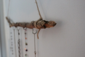 DIY Tree Branch Jewelry Hanging